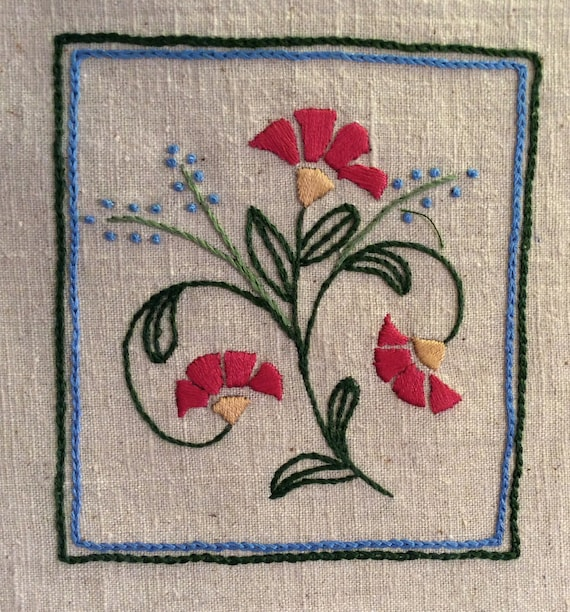 Craftsman coneflower embroidery pattern pdf