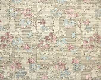 1920s Vintage Wallpaper by the Yard - Antique Floral Pink and Blue Leaves and Branches