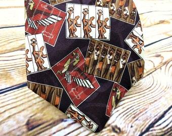 Vintage Necktie - Mens Gift Ideas - Ralph Lauren - African -  Husband Gift - Fathers Day Gift - Groomsmen Gift - Designer Necktie