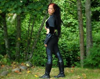 Cosmic Warrioress Yoga Pants -Rainbow Dragon Scale Leggings- Festival Clothing, Hippie Clothes, Gypsy Clothing,