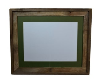 16x20 picture frame with green mat for 11x17 prints or photo