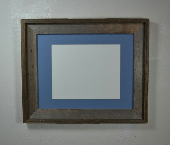 Picture Frame 11x14 With Blue Mat For 8x108 1 2x118x127x9