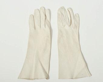 Vintage Long Ivory Gloves
