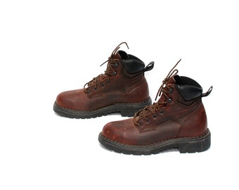 womens size 8 8.5 RED WING brown leather 80s 90s RUSTIC outdoors work boots