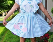 Lolita dress, jumper skirt Hello Kitty maid cosplay women's pinafore size XL extra large