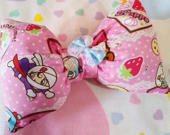 Anpanman hair bow, dessert hair clip sweet lolita fairy kei harajuku fashion