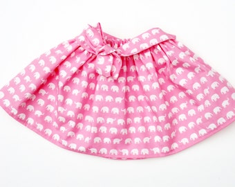 Girl's Elephant Skirt / Kids Clothing / Childrens Clothes / Baby Gift
