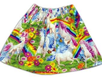 Girl's Unicorn and Rainbow Skirt / Children's / Kids / Baby Clothes