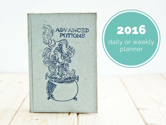 Advanced Potions - the half blood prince notebook or weekly planner or daily planner