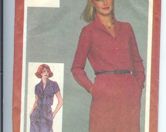 Vintage  Simplicity Misses Pullover DRESS Sewing Pattern 9724    Size   12   UNCUT