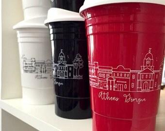 Reusable Athens, Georgia City Skyline Party Cup
