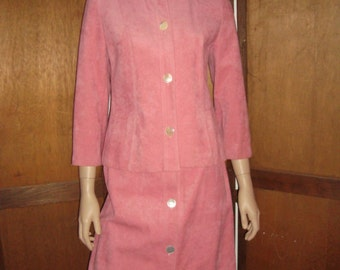 70's Pink Ultra Suede Suit