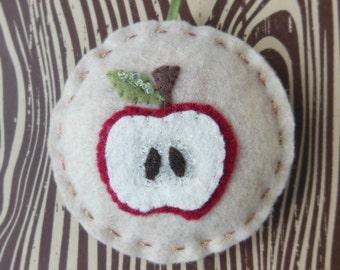 An Apple a Day - Felt Christmas Ornament