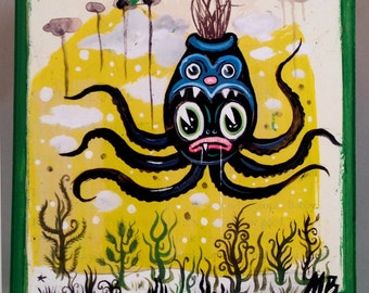 Cartoon Pop Art Octopus Box SB-2A from Painting by Michael Brown /UC Studios
