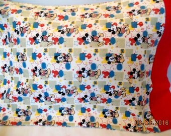 Mickey Mouse Flannel Pillowcase