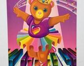 Vintage Lisa Frank Folder ~ Ballerina Bear