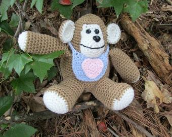 Baby Gorilla Amigurumi Animal. Plush Toy Crochet Gorilla. Cuddly Cute Baby Gorilla. Amigurumi African Ape. Jungle Monkey Gorilla. Gift Idea
