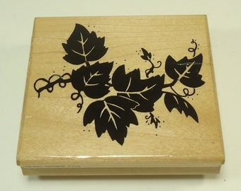 Grape Vine Wood Mounted Rubber Stamp By JRL Designs Q227