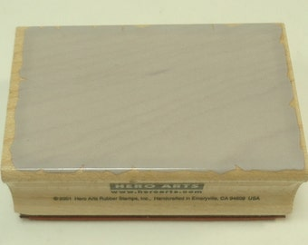 Rectangle Background Wood Mounted Rubber Stamp D 2657 By Hero Arts