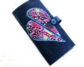 wool felt needle book, needle case for hand sewer, travel sewing kit, gift for hand sewer
