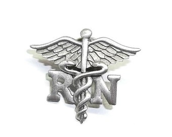 RN Nurse Caduceus JJ Nursing Hospital pin New Graduation Gift Pinning Ceremony