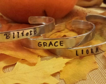 Personalized Aluminum Cuff Bracelet~Single name or word