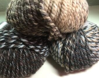 3 Balls of Nashua Equinox Stripe Super Bulky Yarn DeStash