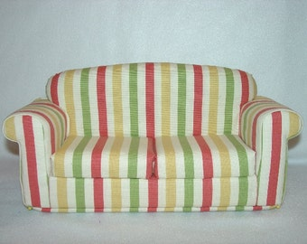 Fashion Doll Sofa - Stripes fits Blythe and other 11 1/2 Inch dolls