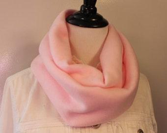 Women's Fleece Infinity Scarf Pink