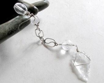 Rock Quartz Pendulum- Metaphysical Dowsing Divination Tool
