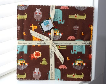 SALE 10 inch squares Stackers GIRAFFE CROSSING 2 fabric by Riley Blake