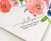 Address Stamp - Return Address Stamp - Personalized Address Stamp - Self Ink Address Stamp - Lovely Lines - Wedding Invitations - No. 41