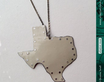 Upcycled Tin Texas Necklace—You Choose the Color