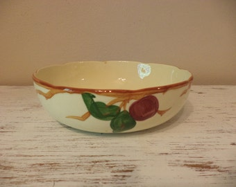 Vintage Franciscan apple dinnerware hand painted round serving vegetable bowl made in USA