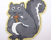 Vintage Cute Grey Squirrel with Acorn Autumn or Halloween Decoration or Die Cut by Trend