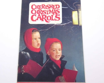 Vintage Christmas Carols Song Book with Children Carolers on Cover