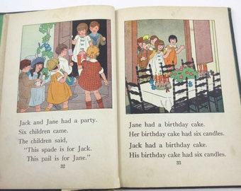 Child Story Readers Primer Vintage 1920s Children's School Reader or Textbook by Lyons and Carnahan