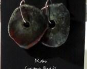 Sterling and Raku Earrings