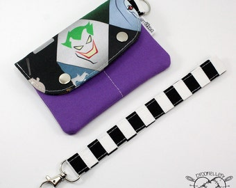 Wallet Wristlet Clutch SMALL Joker Killing Joke