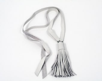 tassel necklace 3/26 - indie collective - luxe, multi use, gender fluid