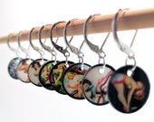 Pinups Stitchmarkers, Knitting stitchmarkers, Crochet stitchmarkers, Snag-free stitchmarkers, Knitting Markers, Progress Keepers
