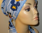 Mickey Mouse Print  Chemo Hat, Cancer Scarf, Modest Hat