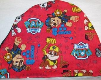 Kids Paw Patrol  Children Kids Size Lightweight  Hat -Chemo, Cancer, Alopecia,Sleep Cap, Summer Chemo Hat