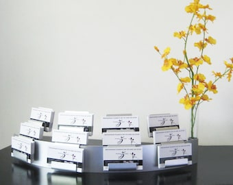 Modern Modular 12 Pocket Business Card Holder and Vase