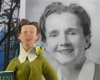 Rachel Carson Doll Miniature Art Historical Character Environmental Advocacy