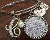 Aunt gift, GIFTS for Aunt, Aunt bracelet, Only an aunt can give hugs like a mother, Mother's Day gift,  Aunt to be, PERSONALIZED jewelry