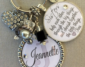 Sister gift, sister jewelry, big sister, little sister, sisters by chance friends by choice, cousin gift, Christmas gift, inspirational
