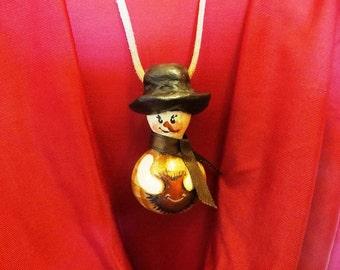 Gourdeous Gourd Snowman Pendant Necklace