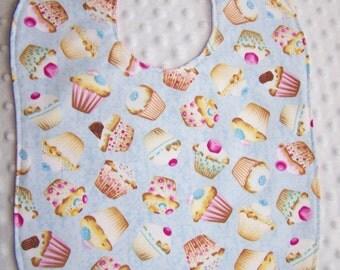 FREE SHIPPING Cupcake Large Toddler Baby Bib