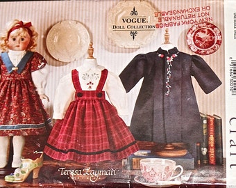 """18"""" Vogue Doll Collections Clothing Pattern 684 For Antique and Bisque Head Dolls"""